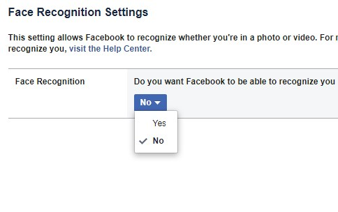 How to Turn Off Facebook's Facial Recognition