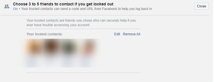 Recover FB Password through Trusted Contacts