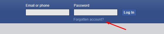 recover facebook password without email and phone number